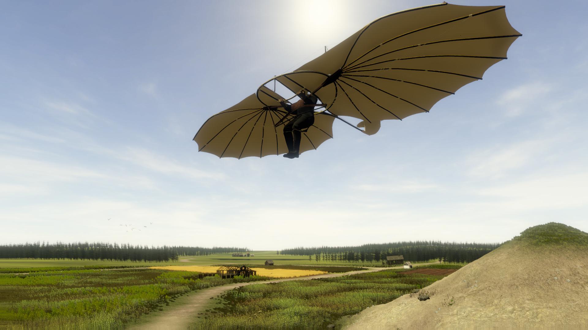 Virtuelles Fliegen von Otto Lilienthals Gleiter