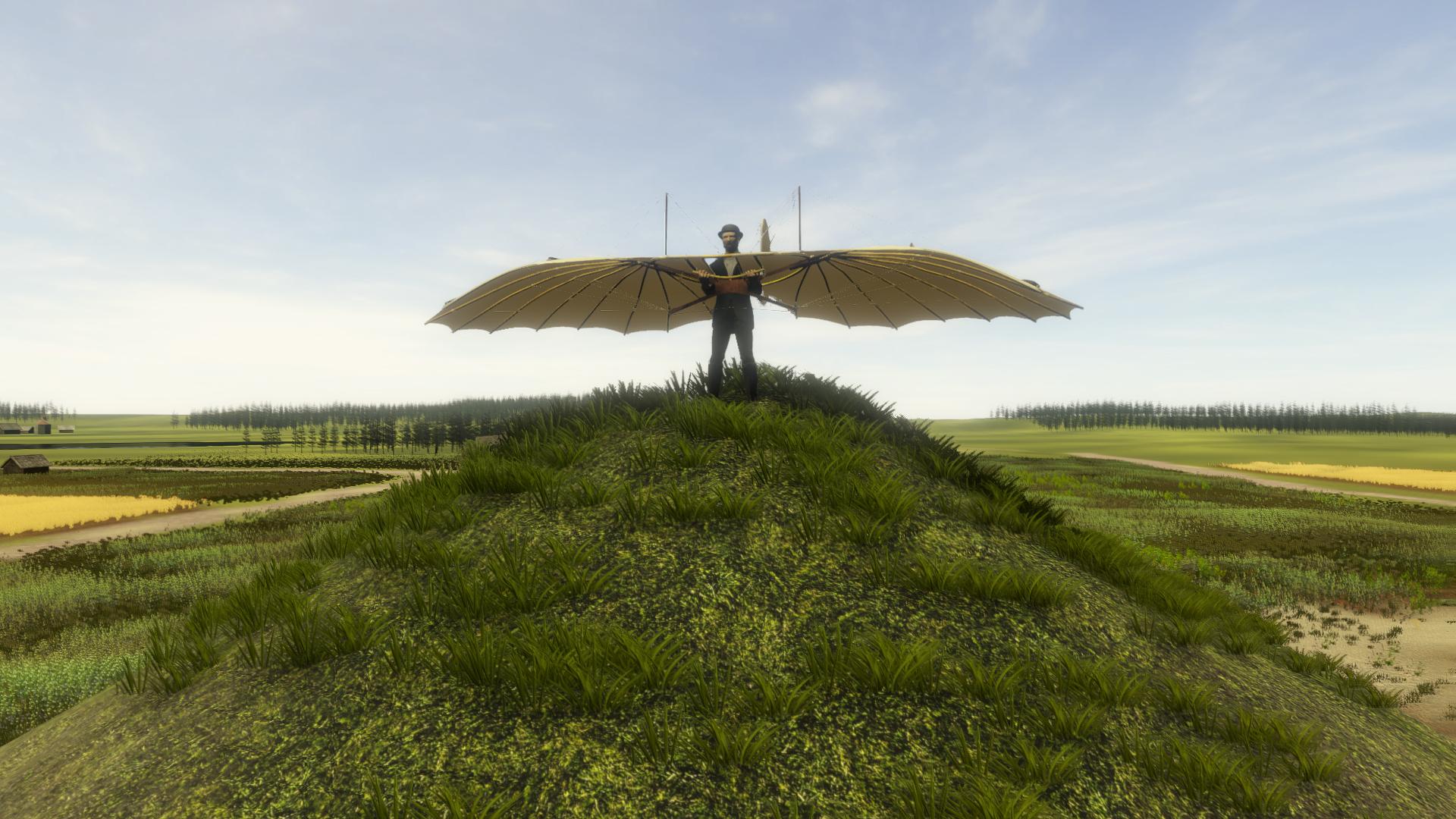 Otto Lilienthals virtueller Gleiter