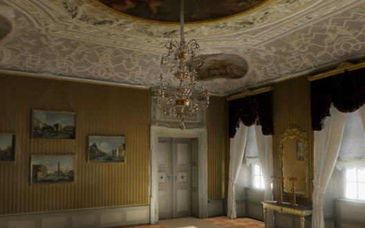 Virtuelle Version des Zimmer 02 der Residenz Bamberg