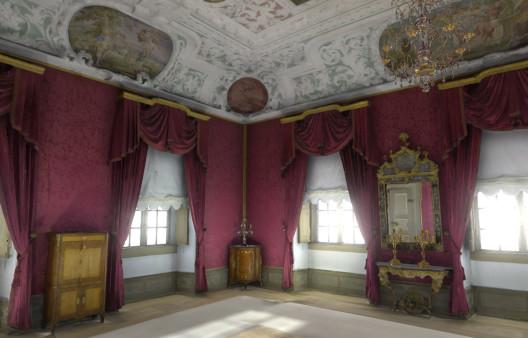 3D Simulation des Zimmer 03 der Residenz Bamberg