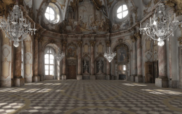 Kaisersaal der Residenz Würzburg in Virtual Reality