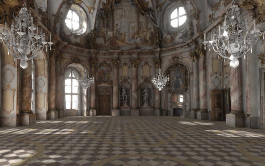 Kaisersaal der Residenz Würzburg in virtueller Realität