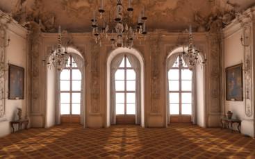 Weißer Saal der Residenz Würzburg in virtueller Realität