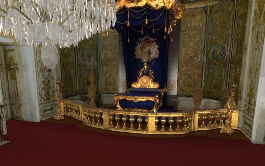 VR Bild des Schlafzimmers im Schloss Linderhof