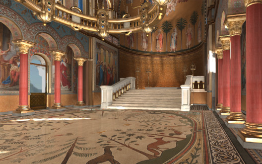 Thronsaal des Schlosses Neuschwanstein in virtual Reality