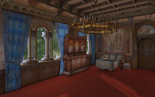 Wohnzimmer im Schloss Neuschwanstein in VR