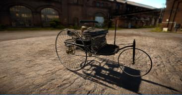 Virtuelle Version des ersten Automobils der Welt von Benz