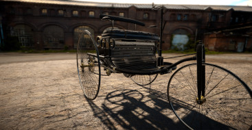 Virtuelle Version des Benz Patent-Motorwagen