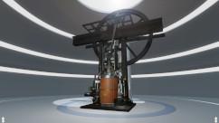 Komplettansicht der VR-Dampmaschine