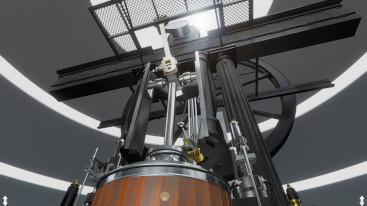 Nahansicht der VR-Dampfmaschine