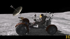 Moonrover auf dem Mond in Virtual Reality