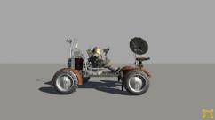 Seitenansicht des Moonrovers in VR