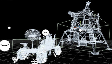 3D Wireframe des Moon Rovers