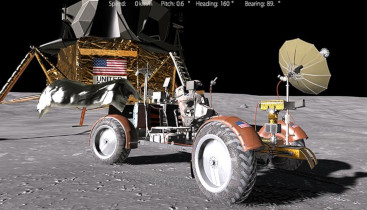 3D-Simulation des Moonrovers