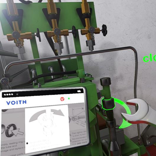 VR-Fernwartung einer Industrieanlage