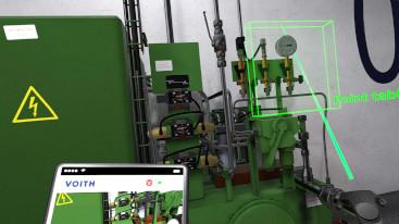 VR Wartung einer Industrieanlage